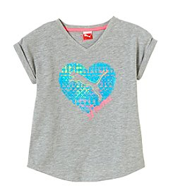 PUMA® Girls' 2T-16 Geo Cat Cuffed Tee