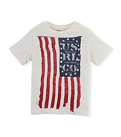 Ralph Lauren Childrenswear Boys' 2T-20 Short Sleeve Vintage Flag Tee