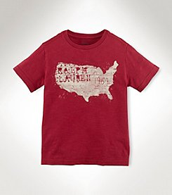 Ralph Lauren Childrenswear Boys' 2T-20 Short Sleeve Vintage Map Tee