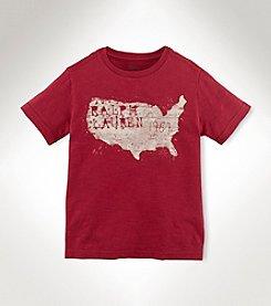 Ralph Lauren Childrenswear Boys' 2T-20 Short Sleeve Vintage Map Tee