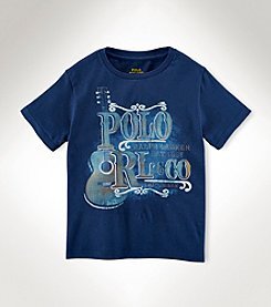 Ralph Lauren Childrenswear Boys' 2T-20 Short Sleeve Guitar Tee