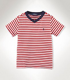 Ralph Lauren Childrenswear Boys' 2T-20 Short Sleeve V-Neck Tee