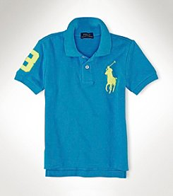 Ralph Lauren Childrenswear Boys' 2T-20 Short Sleeve Polo Mesh Top