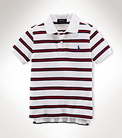 Ralph Lauren Childrenswear Boys' 2T-20 Short Sleeve Striped Polo Top