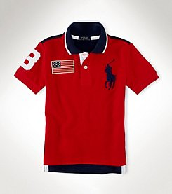 Ralph Lauren Childrenswear Boys' 2T-20 Short Sleeve Color Block Polo Top