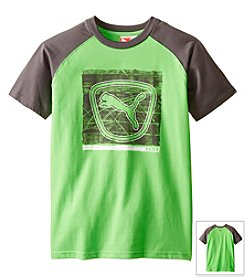 PUMA® Boys' 2T-7 Short Sleeve Shielded Cat Tee
