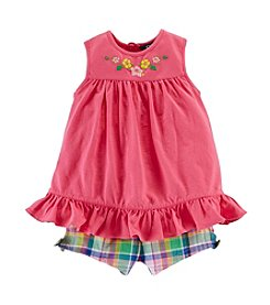 Chaps® Baby Girls' Woven Shorts Set