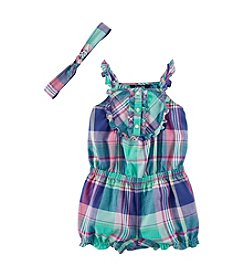 Chaps® Baby Girls' Plaid Romper