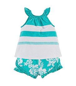 Chaps® Baby Girls' Tank Top With Shorts Set