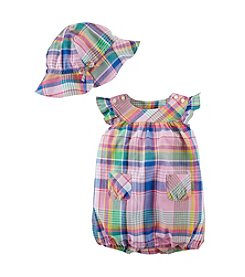 Chaps® Baby Girls'  Madras Bubble Set