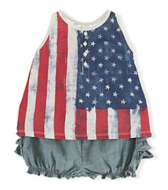 Ralph Lauren Childrenswear Baby Girls' Flag Shorts Set
