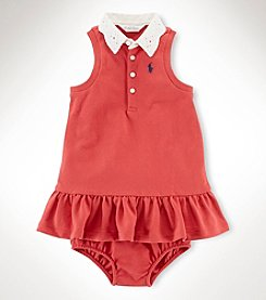 Ralph Lauren Childrenswear Baby Girls' Mesh Sleeveless Dress
