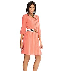 AGB® Chiffon Belted Dress