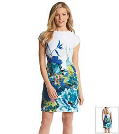 Studio One Floral Border Dress