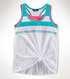 Chaps® Girls' 7-16 Striped Layered Tank