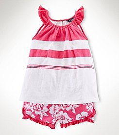 Chaps® Girls' 2T-6X Tank With Shorts Set