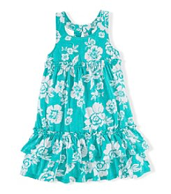 Chaps® Girls' 2T-6X Floral Printed Summer Dress