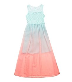 Rare Editions® Girls' 7-16 Ombre Sweetheart Maxi Dress