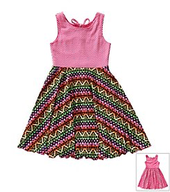 Sweet Heart Rose® Girls' 2T-6X Multi Colored Flip Dress