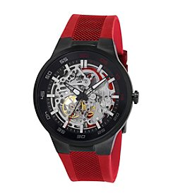 Kenneth Cole New York® Men's Automatic Watch with Red Silicon Strap