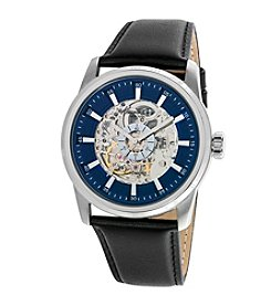 Kenneth Cole New York® Men's Automatic Watch with Black Leather Strap