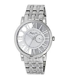 Kenneth Cole New York® Men's Stainless Steel Transparent Watch