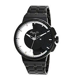 Kenneth Cole New York® Men's 3-Hand Transparent Watch with Black IP Bracelet