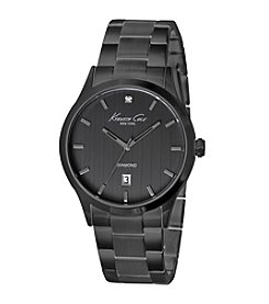 Kenneth Cole New York® Men's Black IP Diamond Watch