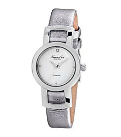 Kenneth Cole New York® Women's Diamond Watch with Silvertone Strap