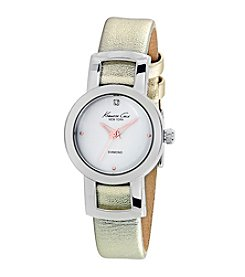 Kenneth Cole New York® Women's Diamond Watch with Goldtone Strap