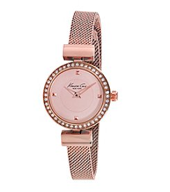 Kenneth Cole New York® Women's Classic Rose Goldtone Watch with Mesh Bracelet