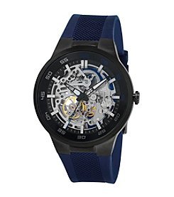 Kenneth Cole New York® Men's Automatic Watch with Blue Silicone Strap