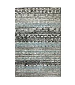Karastan Euphoria Eddleston Ash Grey Striped Area Rug