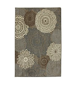 Karastan Euphoria Mossat Brown Medallion Area Rug