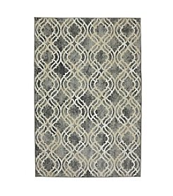 Karastan Euphoria Potterton Ash Grey Lattice Area Rug
