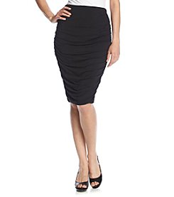 Vince Camuto® Solid Ruched Skirt