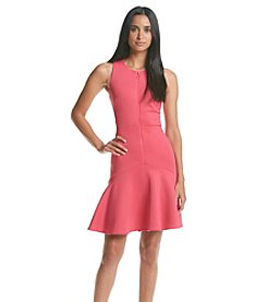 Calvin Klein Flamingo Zip Scuba Dress