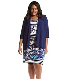 R&M Richards® Layered Look Jacket Necklace Dress