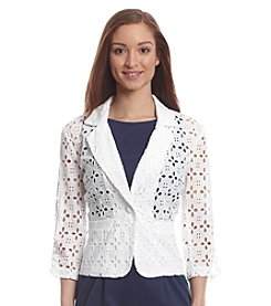 Madison Leigh Eyelet Jacket Blazer