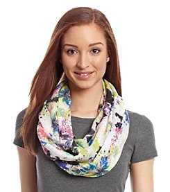 Collection 18 Speckled Floral Loop Scarf