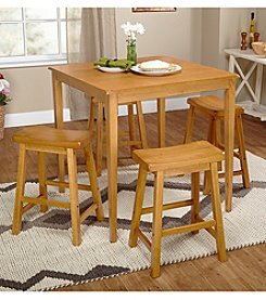 TMS 5-pc. Belfast Saddle Oak Dining Set