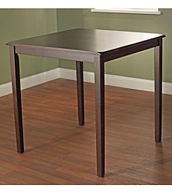 TMS Belfast Espresso Saddle Dining Table