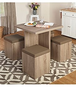 TMS 5-pc. Baxter Dining Set with Storage Ottoman