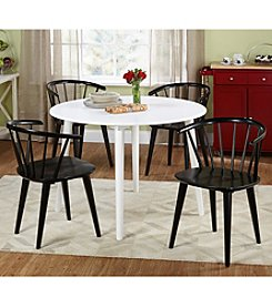 TMS 5-pc. Florence White & Black Dining Set