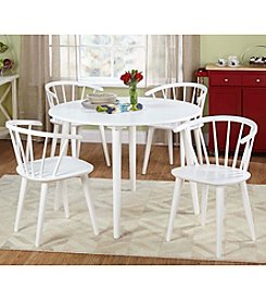TMS 5-pc. Florence White Dining Set
