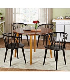 TMS 5-pc. Florence Oak & Black Dining Set