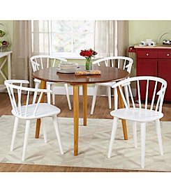 TMS 5-pc. Florence Oak & White Dining Set