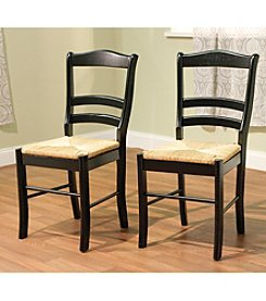 TMS Set of 2 Black Paloma Chairs