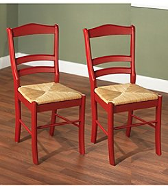 TMS Set of 2 Red Paloma Chairs