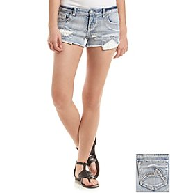 Hippie Laundry Peek-A-Boo Crochet Jean Short
